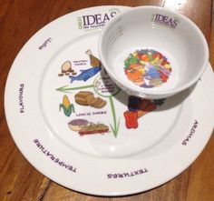 2 X Portion Control Soup Bowl /  Large Dinner Plate China Great Ideas