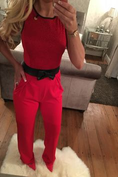 Wantthattrend - Romano Red Jumpsuit, E28.77…