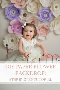 The paper flower backdrop from my springtime session with these gorgeous  girls has been getting so much attention on social media that I decided to  share an easy step-by-step tutorial so that you can do it yourself!  Read  on and get your scissors ready!  Assemble your materials before beginning: Assorted cardstock and  scrapbooking paper, glue gun, extra glue sticks, pencil, and scissors.  Create your petal templates -- one small, medium, and large for each style  of flower.  Fold your…