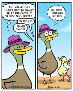 Relaxing Vacation - Fowl Language Comics