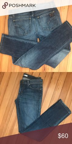 """Joe's Jeans """"Cigarette"""" Straight Leg Faded Jeans Perfect lighter wash shade for spring! Mint condition Joe's Jeans in the """"Cigarette"""" straight leg cut. Denim has a little stretch to it and these sit right at your hips. Joe's Jeans Jeans Straight Leg"""