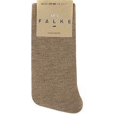 Falke No 1 cashmere sock (£55) ❤ liked on Polyvore featuring intimates, hosiery, socks, accessories, falke hosiery, patterned hosiery, patterned socks, falke socks and falke