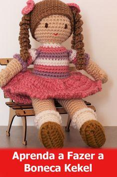 Free Amigurumi Crochet Doll Pattern and Design ideas - Page 8 of 37 - Martha Rodríguez Portocarrero - DiyForYou Crochet Doll Tutorial, Crochet Doll Pattern, Crochet Dolls, Crochet Square Patterns, Crochet Stitches, Love Crochet, Crochet For Kids, Amigurumi Doll, Crochet Animals