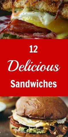 12 Delicious Sandwich Recipes