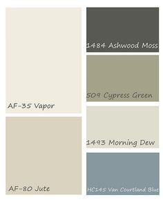 Benjamin Moore palette for mountain house