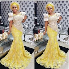 Stunningly Fascinating Dresses Special For The Elegantly Glamorous Women aso ebi styles 2017 ankara aso ebi styles lace aso ebi styles 2017 lace lace. Lace Dress Styles, African Lace Dresses, African Wedding Dress, African Dresses For Women, African Attire, African Wear, African Fashion Dresses, African Women, African Outfits