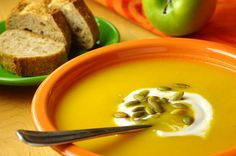 This super tasty Butternut Squash & Apple Soup with Pumpkin Seeds is as nutritious as it is delicious!
