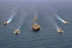 U.S. Navy ships are in the Atlantic Ocean. by Official U.S. Navy Imagery, via Flickr