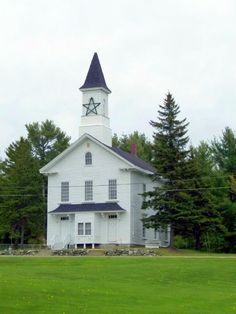 The Old Medway Church - circa 1874 - Medway, Maine. My sister got married here.