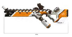 a truly alien design from WETA - Prawn assault rifle for District 9 Sci Fi Weapons, Weapon Concept Art, Fantasy Weapons, Weapons Guns, Aliens, Future Weapons, Concept Art World, Futuristic Art, Assault Rifle