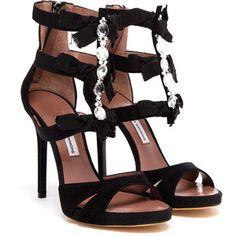 TABITHA SIMMONS Ellie Suede Embellished Sandals