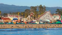 California - Santa Cruz - Santa Cruz Beach Boardwalk. Love this beach! There's just something special about beaches like this.
