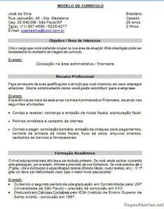 Curriculum Para Preencher A Mao Imagens De Curriculum Pinterest