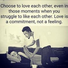 Love is a commitment