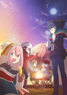 Yurucamp premieres in January 2018 (๑'ᗢ'๑)ฅ #ゆるキャン #Yurucamp