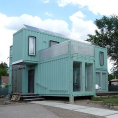 Container House - Shipping Containers: The New Eco-Homes - Your Natural Home - Mother Earth Living - Who Else Wants Simple Step-By-Step Plans To Design And Build A Container Home From Scratch? Container Home Designs, Shipping Container Design, Storage Container Homes, Shipping Containers, Building A Container Home, Container Buildings, Container House Plans, Container Office, Eco Homes