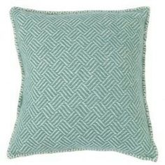 Soft lambswool cushion by Scandinavian brand Klippan. The subtle mint samba design is also available as a throw.