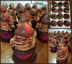 chocolate cupcakes strawberry