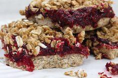 Raspberry breakfast crumble bars