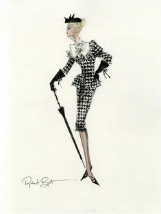 sketch by Robert Best .....wish I owned that suit!