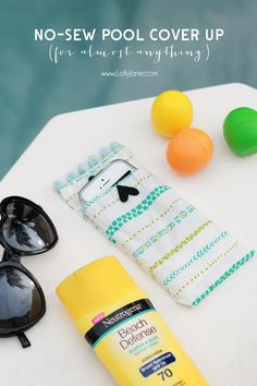 Easy no sew pool cover ups, keep your phone dry during swimming!