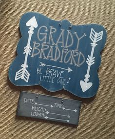 hospital door hanger // arrows be brave by fortheglorydesigns