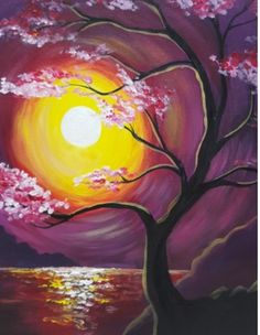 """Moonlit Cherry Blossoms"""