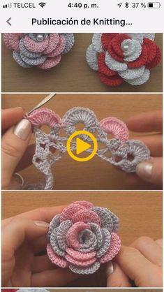 Crochet Flowers 90 FREE Crochet Flower Patterns Visit the post for more. Crochet Leaves, Crochet Motifs, Thread Crochet, Crochet Crafts, Crochet Projects, Crochet Owls, Crochet Doilies, Diy Crafts, Crochet Granny