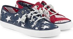 Sperry Seacoast Stars and Stripes Sneakers Red/White/Blue