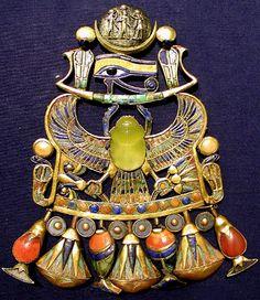 Tutankhamun's Pectoral with desert glass scarab