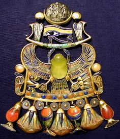 Tutankhamun's Pectoral with desert glass scarab