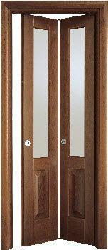 Glass folding door