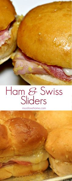 Hot and tangy, these Italian Ham and Cheese Sliders will disappear before your eyes when served as an appetizer or a sandwich! Italian Ham, melted swiss cheese and a zippy mustard sauce combine to make an irresistible snack that everyone will love!
