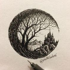 Quick sketch • the castle #original #art #Visothkakvei