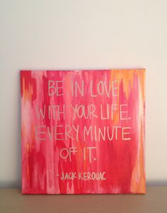 Kerouac Quote on 12 x 12 Stretched Canvas on Etsy, $20.00