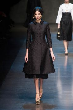 Fashion Show: Dolce & Gabbana Fall/Winter 2013/14 | Черное & Белое