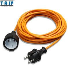 TASP 10 Metres VDE Extension Cable Cord Outlet Wire Plug Outdoor Garden Power Tool Accessories