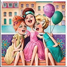 Everything Est Tres Jolie! by Nina de San Illustration Mignonne, Cute Illustration, Animation, Funny Bunnies, Oui Oui, Whimsical Art, Caricatures, Friends Forever, Cute Art
