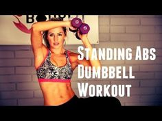 12 Minute Standing Abs with Dumbbell Workout - YouTube