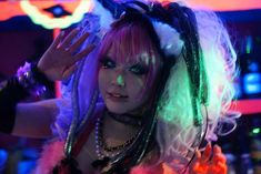 Japanese goth mistresses, fetish parties and drag queen pole dancers! Inside Tokyo Decadance Bar (Decabar) at Christon Cafe Shinjuku, the best alternative LGBT club in Japan. Read more: http://www.lacarmina.com/blog/2014/03/tokyo-decadance-bar-decabar-christon-japan-nightclub/  harajuku cyber goth girl