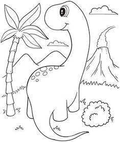 Coloriage - Dinosaures - activités manuelles - 10 Doigts Disney Coloring Sheets, Coloring Sheets For Kids, Coloring Books, Die Dinos Baby, Dinosaur Coloring Pages, Pop Toys, Diy Home Crafts, Mail Art, Drawing For Kids