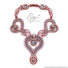 Cupid #KaoriNaArt #soutache #cupid #necklace #art #design #fashionjewelry #heart #style #fashion #accessories