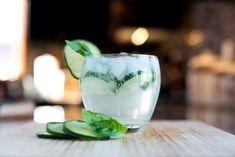 Gin + basil + cucumber