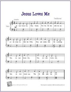 Jesus Loves Me | Free Sheet Music for Harp - http://www.makingmusicfun.net/htm/f_printit_free_printable_sheet_music/jesus_loves_me_harp.htm