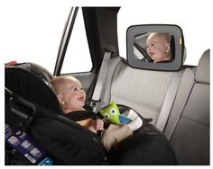 The super affordable must-have to make traveling with babies SO much easier: The Brica Baby In-Sight Mirror. Get one!