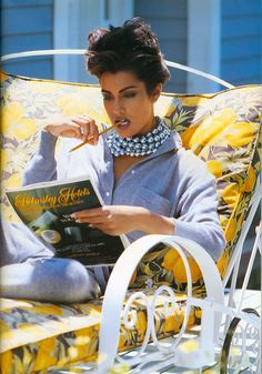 Yasmeen Ghauri, photo by Eric Boman, Vogue UK, 1991