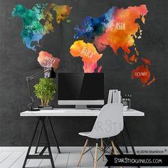 Mapa viajeros por el mundo  Room Decoration and Bedrooms