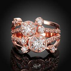Buy Fashion Rings Women Korean Flower Copper Zircon Daily with wholesale free shipping & drop shipping.