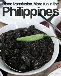 BLOOD TRANSFUSION. More FUN in the Philippines! Philippines Tourism, Philippines Culture, Tourism Department, Best Travel Deals, Foods To Eat, Pinoy, More Fun, Blood, Jeep Grill
