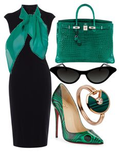 """""""#388"""" by endyrinch ❤ liked on Polyvore featuring Hermès, Christian Louboutin, Karen Millen and Cartier"""